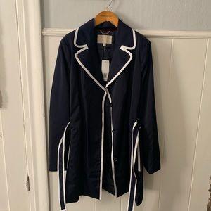 Jackets & Blazers - J. Crew Navy White Piping Jacket NWT